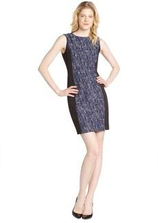 Tahari navy colorblock 'Judy' dress