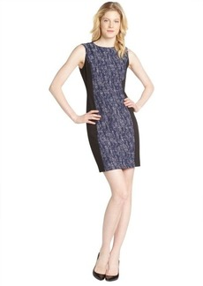 Tahari navy colorblock 'Judy' dress