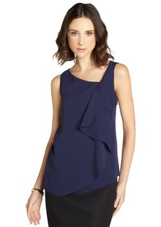 Tahari navy sapphire 'Avelon' sleeveless blouse