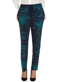 Tahari navy sapphire printed 'Emmy' straight leg pants