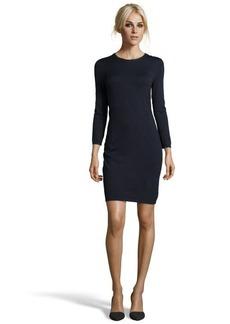 Tahari navy stretch knit 'Kalessi' sweater dress