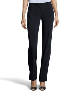Tahari navy stretch 'Theora' flat front dress pants