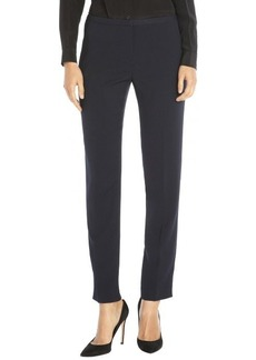 Tahari navy stretch twill 'Jillian' slim fluid pants