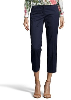 Tahari navy yard stretch cotton 'Sloane' cropped pants