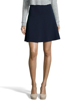 Tahari navy yard stretch woven 'Marnie' a-line short skirt