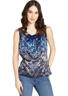 Tahari navy yard 'Winona' sleeveless blouse