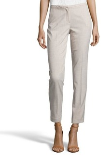 Tahari neutral woven 'Jillian' pleated slim pants