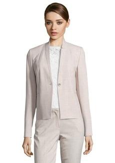 Tahari neutral woven 'Tristen' notched collar long sleeve jacket