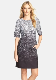 Tahari Ombré Print Scuba Sheath Dress (Regular & Petite)