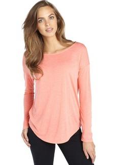 Tahari orange knit long sleeve oversize 'Tyler' tee
