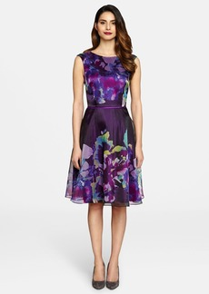 Tahari Organza Fit & Flare Dress (Regular & Petite)