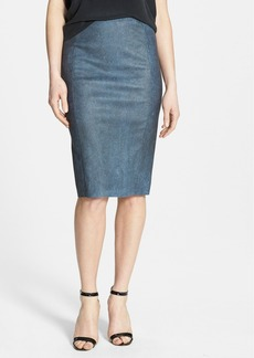 Tahari 'Pamela' Leather Pencil Skirt