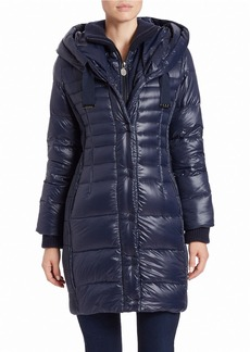 TAHARI Paula Packable Puffer Coat