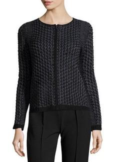 Tahari Penelope Knit Zip-Up Cardigan