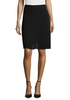 Tahari Pleated-Front A-Line Skirt