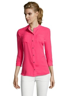 Tahari popsicle 'Jamie' three quarter sleeve blouse
