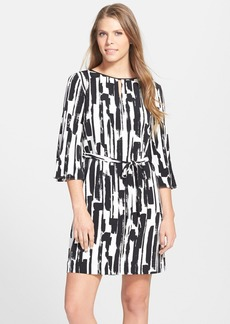 Tahari Print Belted Shift Dress (Regular & Petite)