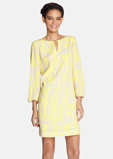 Tahari Print Crêpe de Chine Shift Dress
