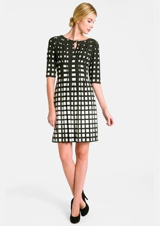 Tahari Print Jersey Fit & Flare Dress (Petite)