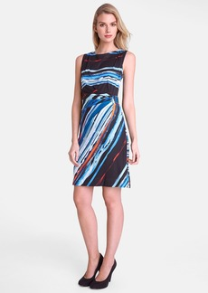 Tahari Print Jersey Sheath Dress (Petite)