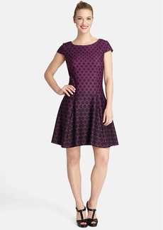 Tahari Print Ponte Fit & Flare Dress (Regular & Petite)