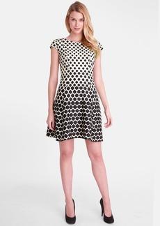 Tahari Print Ponte Fit & Flare Dress (Regular & Petite)