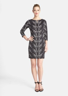 Tahari Print Scuba Sheath Dress (Regular & Petite)