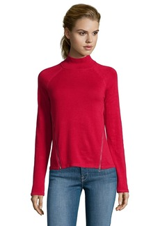 Tahari red cotton rib knit 'Broderick' ...