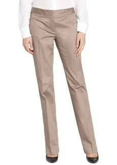 Tahari sandstone cotton blend flat front straight leg pants