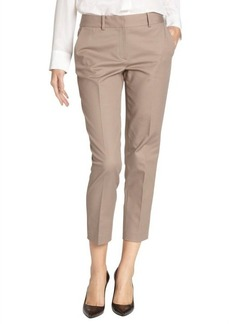 Tahari sandstone cotton blend 'Kara' cropped pants