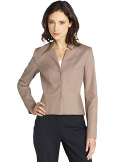 Tahari sandstone 'Quinn' notched collar jacket