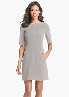 Tahari Seamed A-Line Dress (Regular & Petite)