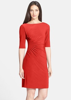 Tahari 'Sean' Side Ruched Dress (Regular & Petite)