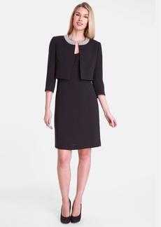 Tahari Sheath Dress & Embellished Jacket