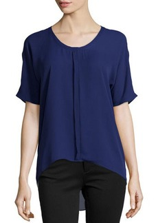 Tahari Short-Sleeve Front-Placket Blouse