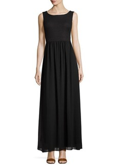 Tahari Sleeveless A-Line Maxi Dress