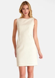Tahari Sleeveless Crochet Sequin Lace Dress (Petite Size)