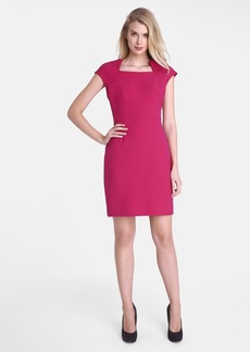 Tahari Square Neck Sheath Dress