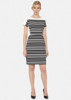 Tahari Stripe Woven Sheath Dress