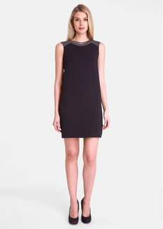 Tahari Studded Crepe Shift Dress