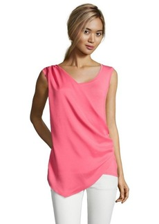 Tahari sweet melon jersey knit and sateen 'Gracie' draped top