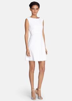 Tahari Textured Cotton Fit & Flare Dress (Regular & Petite)