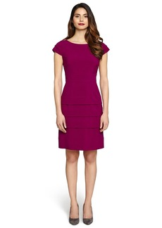 Tahari Tiered Bi-Stretch Sheath Dress