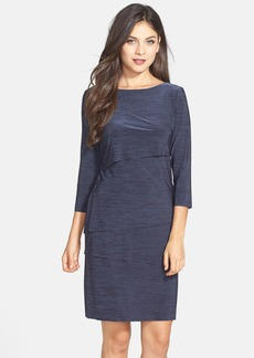 Tahari Tiered Jersey Sheath Dress