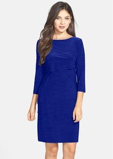 Tahari Tiered Jersey Sheath Dress (Petite)