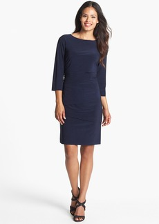 Tahari Tiered Jersey Sheath Dress (Petite)