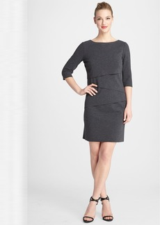 Tahari Tiered Knit Shift Dress