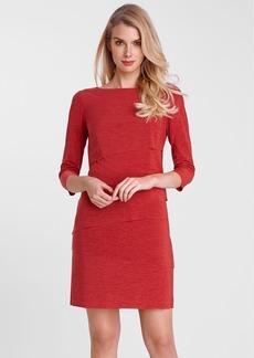 Tahari Tiered Matte Jersey Sheath Dress (Petite)