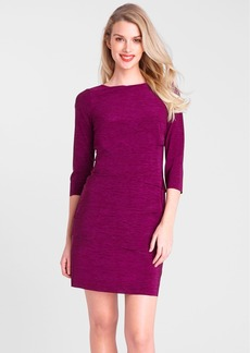 Tahari Tiered Matte Jersey Sheath Dress (Petite)