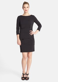 Tahari Tiered Scuba Sheath Dress